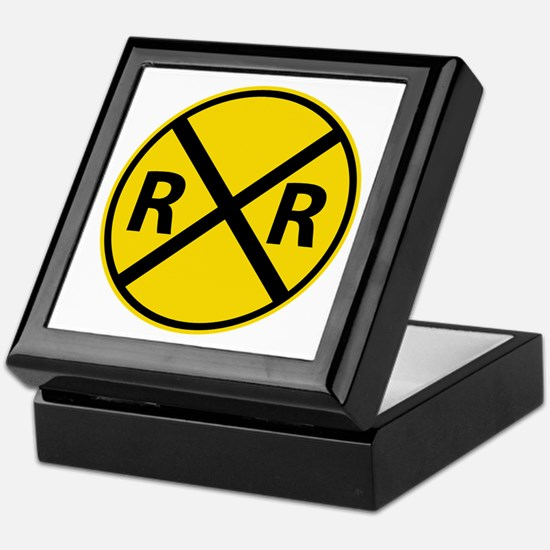 Railroad Crossing Keepsake Box