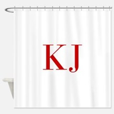 KJ-bod red2 Shower Curtain