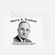 Truman: Hell Greeting Card