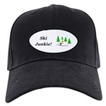 Ski Junkie Black Cap