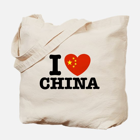 I Love China Tote Bag
