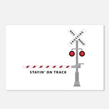 Stayin' On Track Postcards (Package of 8)