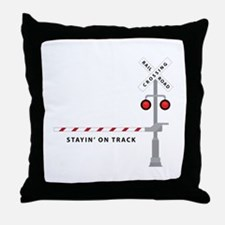 Stayin' On Track Throw Pillow