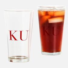 KU-bod red2 Drinking Glass