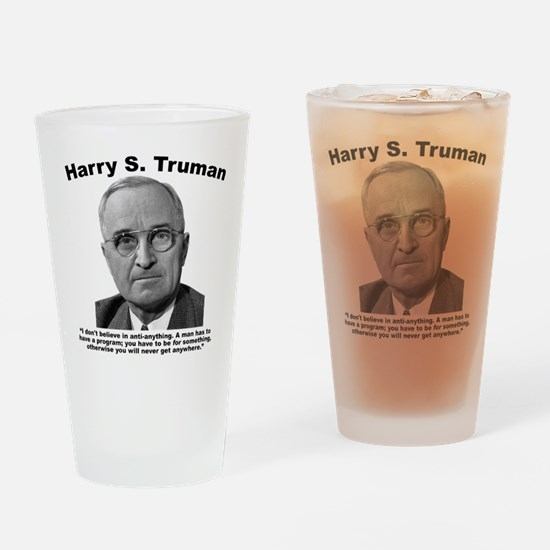 Truman: Program Drinking Glass