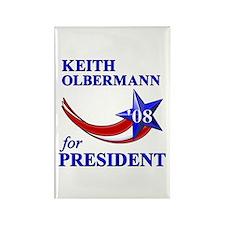 Keith Olbermann for President Rectangle Magnet