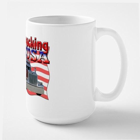 Trucking USA Large Mug