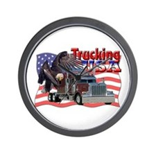 Trucking USA Wall Clock