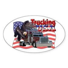 Trucking USA Oval Decal