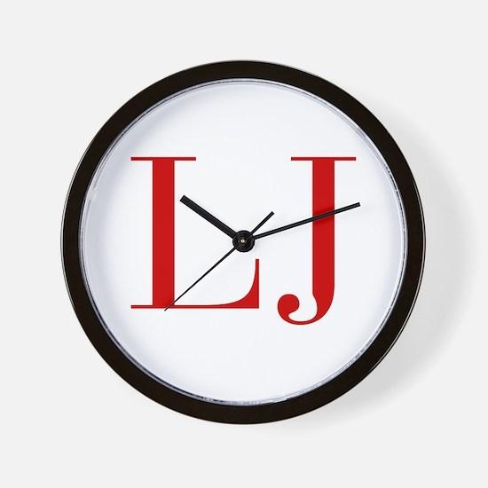LJ-bod red2 Wall Clock