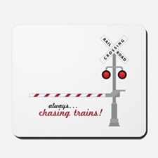 Chasing Trains! Mousepad