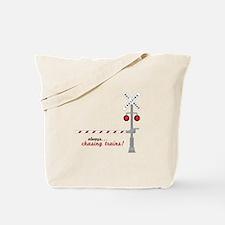 Chasing Trains! Tote Bag