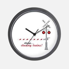 Chasing Trains! Wall Clock