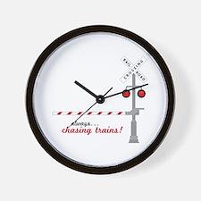 Chasing Trains! Wall Clock