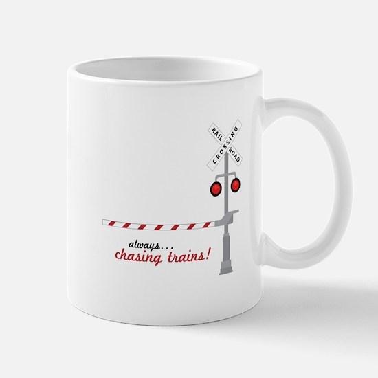 Chasing Trains! Mugs