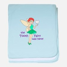 TOOTH FAIRY WAS HERE baby blanket