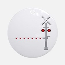 Railroad Crossing Ornament (Round)