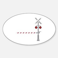 Railroad Crossing Decal