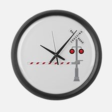 Railroad Crossing Large Wall Clock