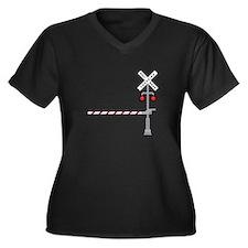 Railroad Crossing Plus Size T-Shirt