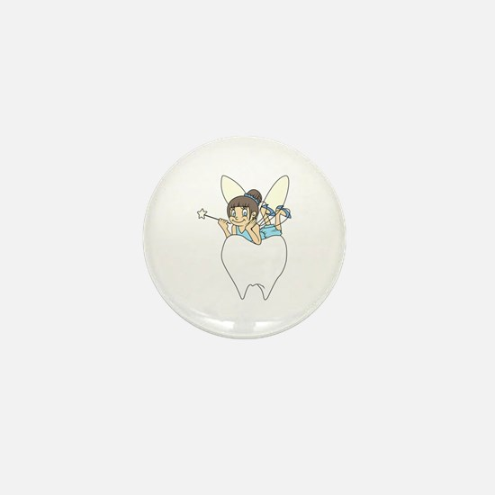 TOOTH FAIRY ON MOLAR Mini Button