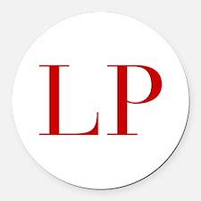 LP-bod red2 Round Car Magnet