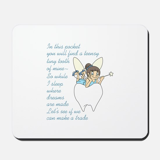 TOOTH FAIRY POEM Mousepad