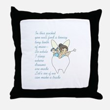 TOOTH FAIRY POEM Throw Pillow