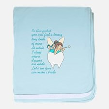 TOOTH FAIRY POEM baby blanket