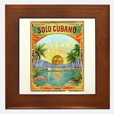 Solo Cubano Cigar Art Framed Tile