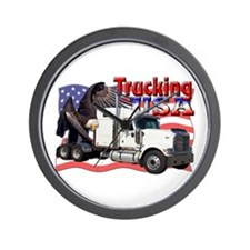 Trucking USA Wall Clock