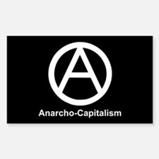 Anarcho Capitalism Rectangle Decal