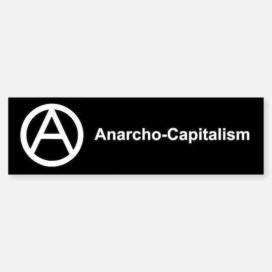 Anarcho Capitalism Bumper Bumper Bumper Sticker