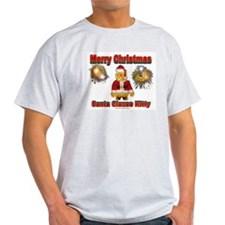 Ash Grey T-Shirt  Merry Christmas Santa Clause Kit
