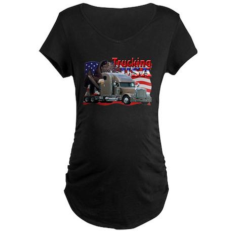 Trucking USA Maternity Dark T-Shirt