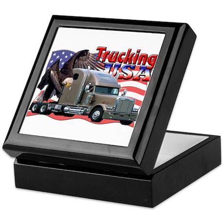 Trucking USA Keepsake Box