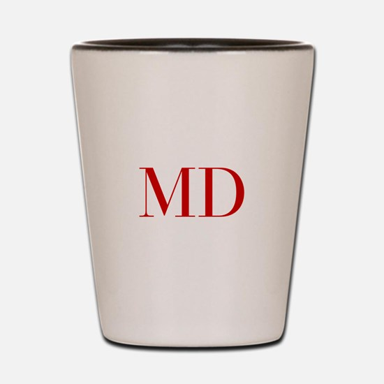 MD-bod red2 Shot Glass
