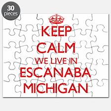 Keep calm we live in Escanaba Michigan Puzzle