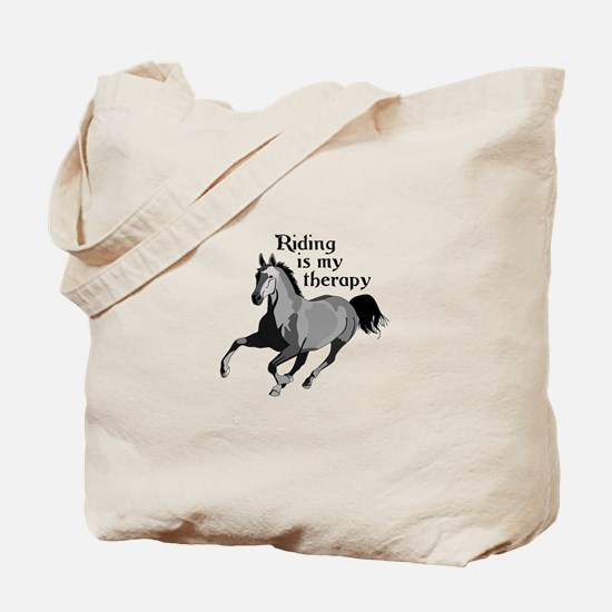 RIDING IS MY THERAPY Tote Bag