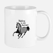 RIDING IS MY THERAPY Mugs