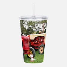 Old farm tractors mach Acrylic Double-wall Tumbler