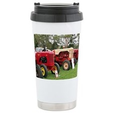 Old farm tractors machi Travel Mug