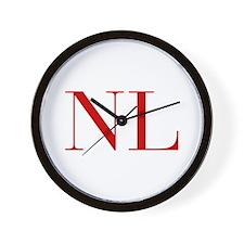 NL-bod red2 Wall Clock