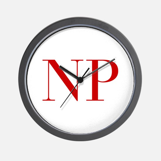 NP-bod red2 Wall Clock
