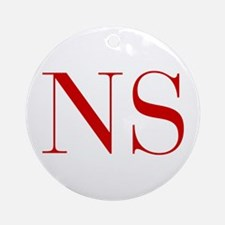NS-bod red2 Ornament (Round)