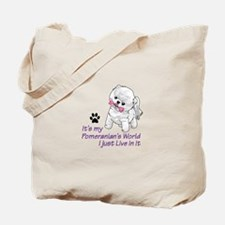 POMERANIANS WORLD Tote Bag