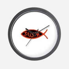 Sushi Fish Wall Clock
