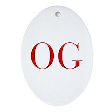 OG-bod red2 Ornament (Oval)