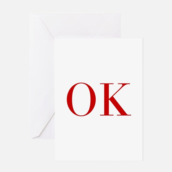 OK-bod red2 Greeting Cards