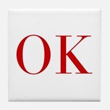 OK-bod red2 Tile Coaster